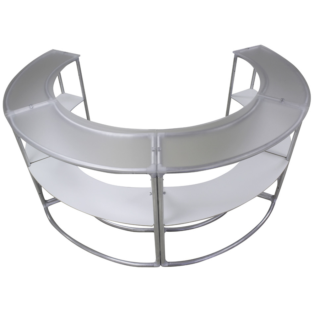 EZ Fabric Counter - Curved Quad Frame Shelf
