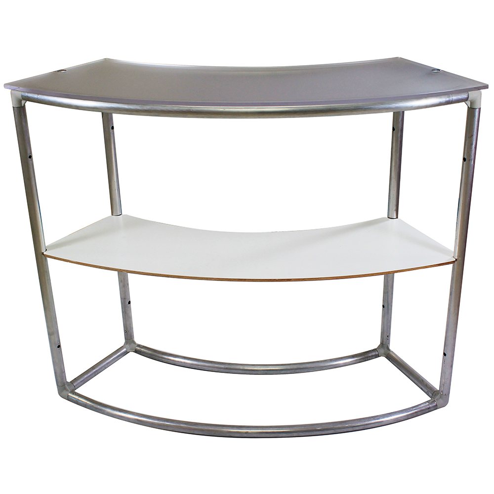 EZ Fabric Counter - Curved Single Frame w/shelf