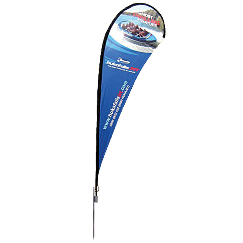 Large Teardrop Banner Single Side Spike Base
