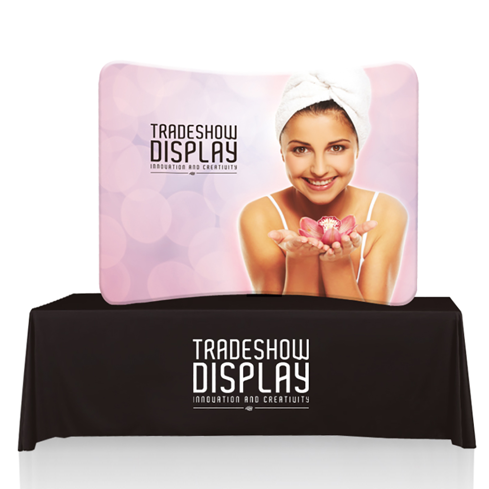 EZ Tube Display - 6ft Curve Table Top
