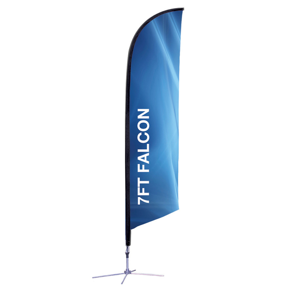 Falcon Flag Single Side X Base