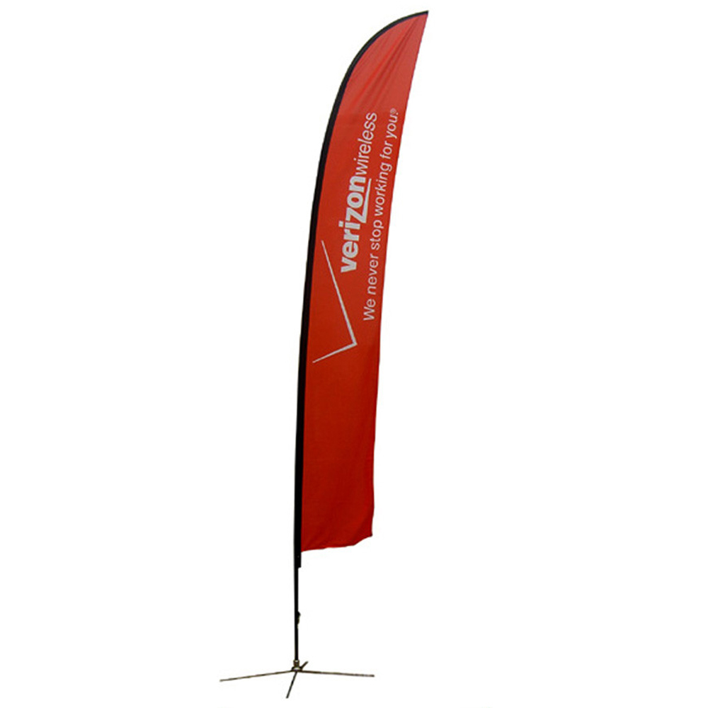 Extra Large Feather Banner Single Side X Base