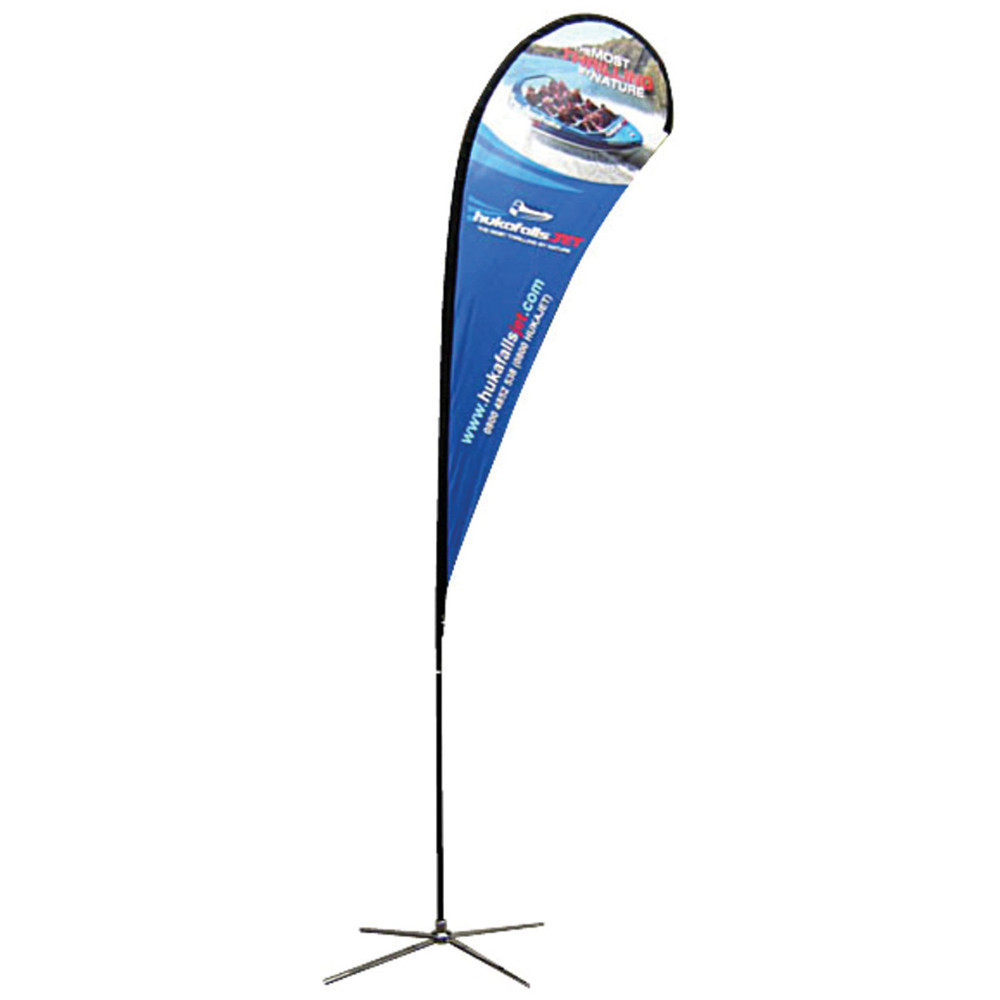 Large Teardrop Banner Single Side X Base
