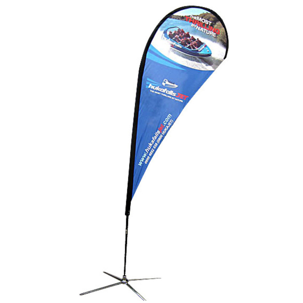 Medium Teardrop Banner Single Side X Base